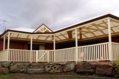 Multi Hip & Scotch Gable with Balustrade