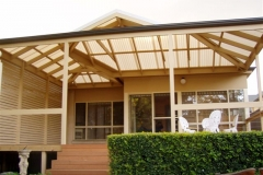 Double Hipped Pergola with Return