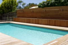Hardwood Pool Decking & Privacy Screen