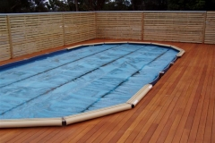 hardwood pool decking