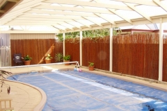 Flush Gable Pool Enclosure