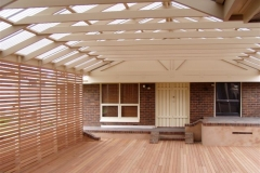 Split Gable with Hardwood Screen & Deck