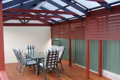 Split Gable with Privacy Screen & Deck