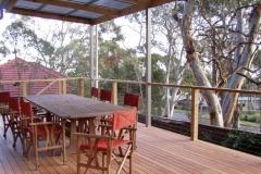 Flat Verandah with Decking & Stainless Balustrade
