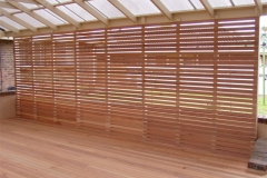 Hardwood Kapur Privacy Screen
